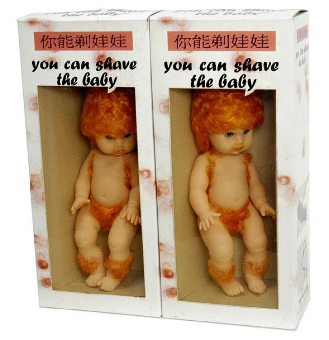 Foto de un muñeco con pelo para afeitar