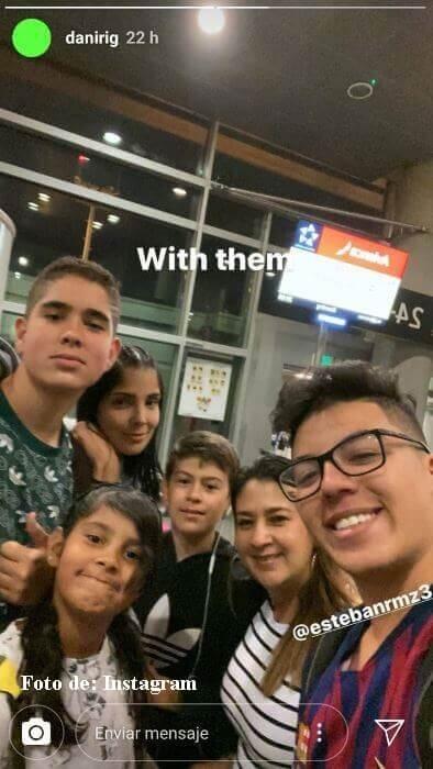 Andreina Fiallo y sus hijos