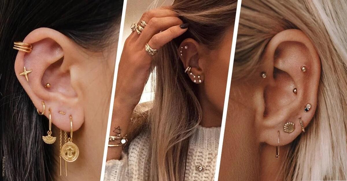 Ear Cuff o Cluster Piercing
