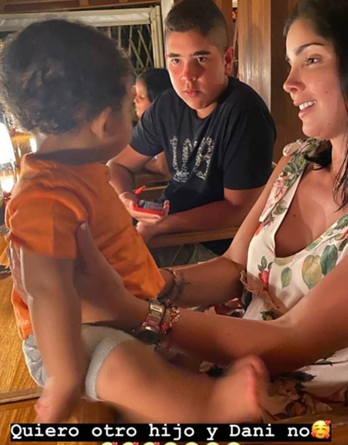 Andreina Fiallo con nuevo bebé