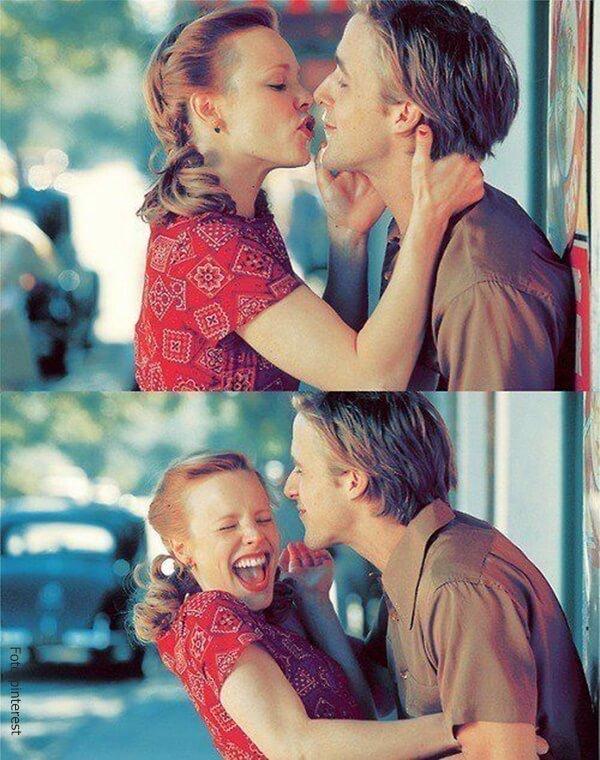 Besos entre Alli y Noa en 'Diario de una pasión'.