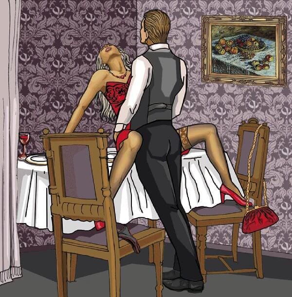 Imagen de una pareja en el comedor
