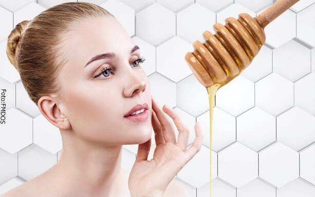 Piel suave después del uso de miel