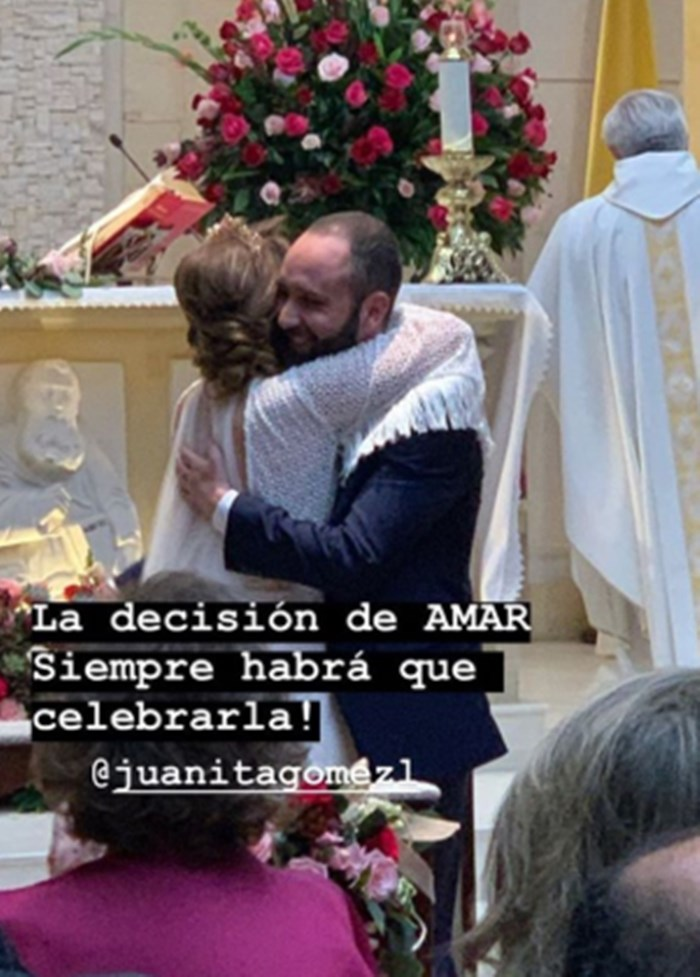 Juanita Gómez se casó 2