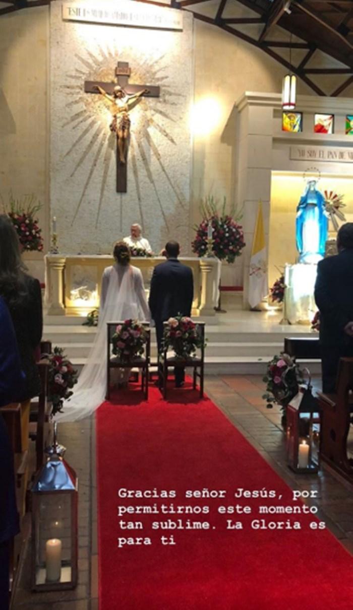 Juanita Gómez se casó