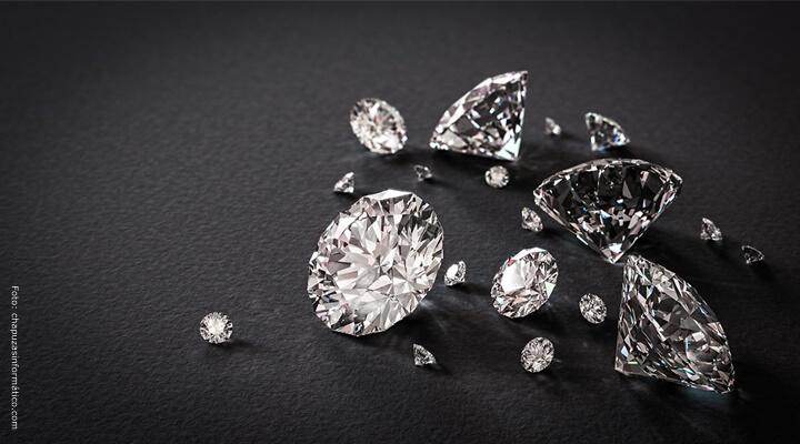 Diamantes tallados.