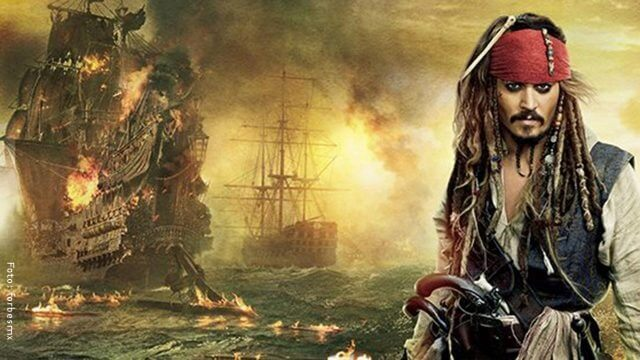 Portada Piratas del Caribe con Jack Sparrow.
