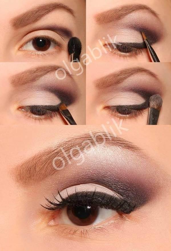 Foto de chica con contorno en los ojos hecho con sombras