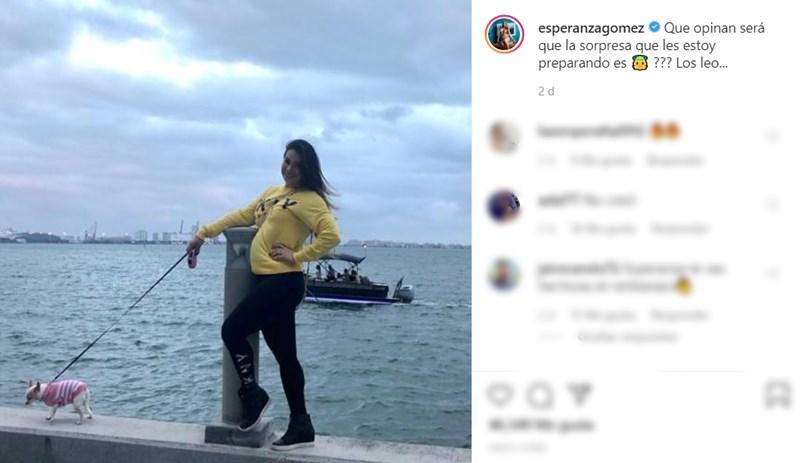 Esperanza Gómez embarazada