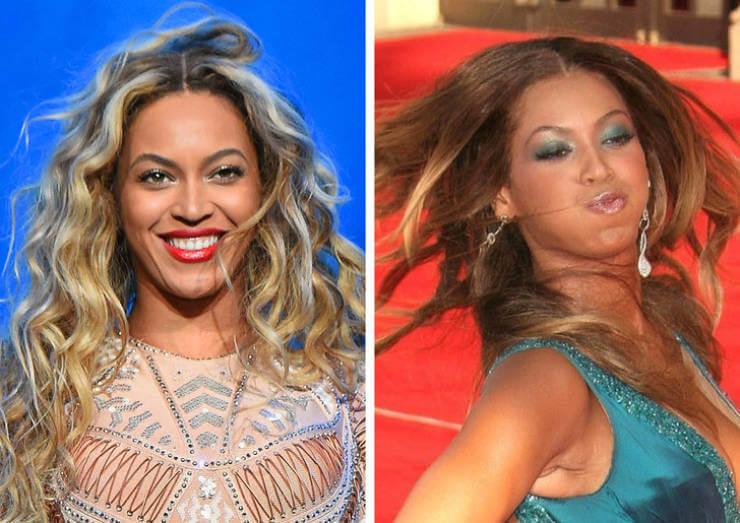 Fotos filtradas de famosas en las que parecen otras: Beyoncé