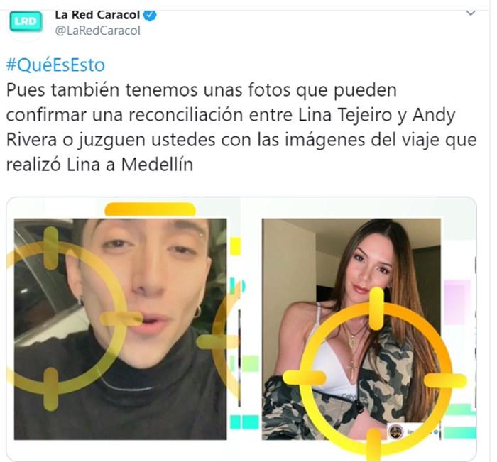 La Red asegura que Lina Tejeiro volvió con Andy Rivera