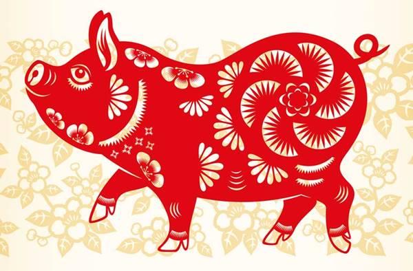 Imagen de un cerdo del Horóscopo Chino