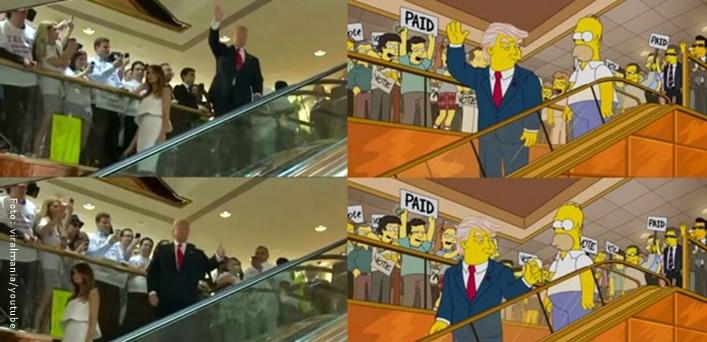 Los Simpson predicen la presidencia de Trump.
