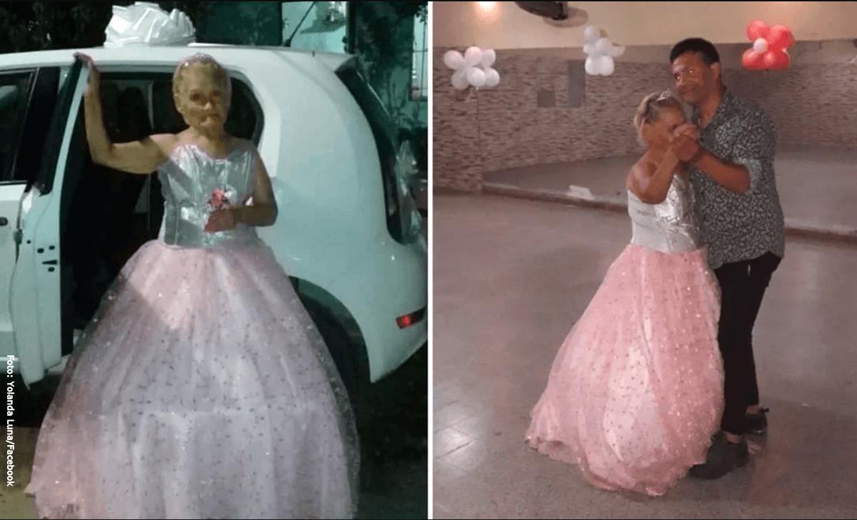 Abuela hizo su fiesta de 15 a los 79 años