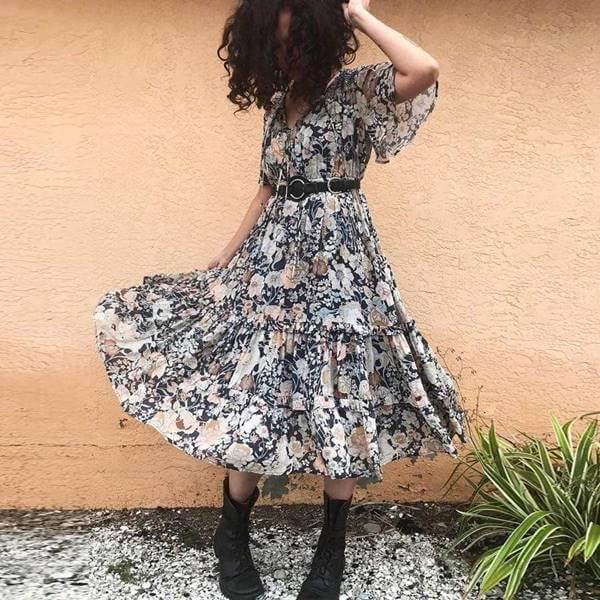 Foto de chica usando esta prenda con botas militares
