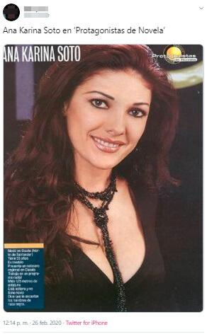 Ana Karina Soto en la portada de una revista, antes de las cirugías.