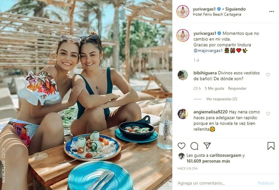 Yuri y su hermana Majo Vargas en bikini
