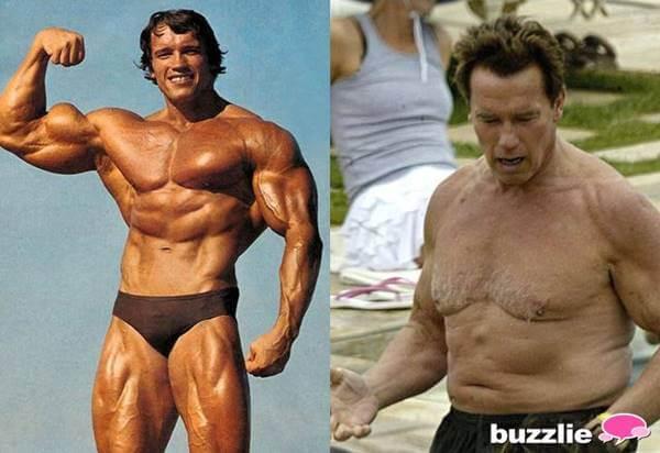 Fotos de Arnold Schwarzenegger antes y después