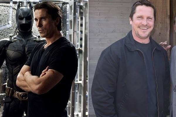 Foto antes y después de Christian Bale