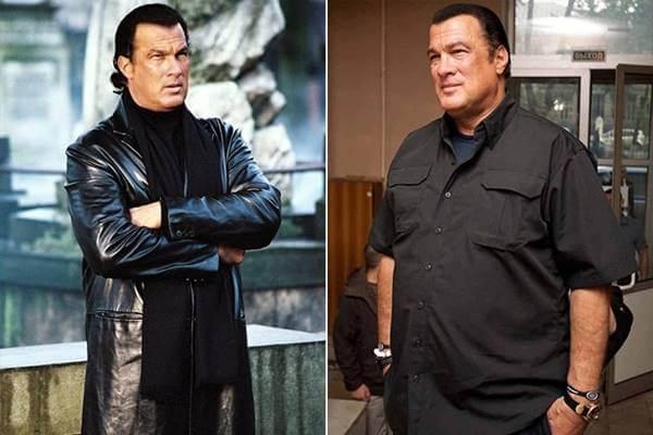 Foto antes y después de Steven Seagal