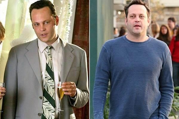 Foto antes y después de Vince Vaughn