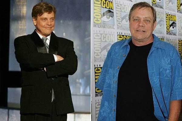 Foto antes y después de Mark Hamill