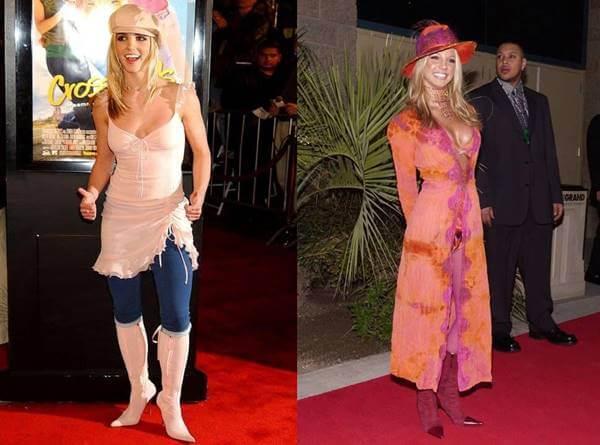 Foto de Britney Spears que demuestra qué estaba de moda en el 2000
