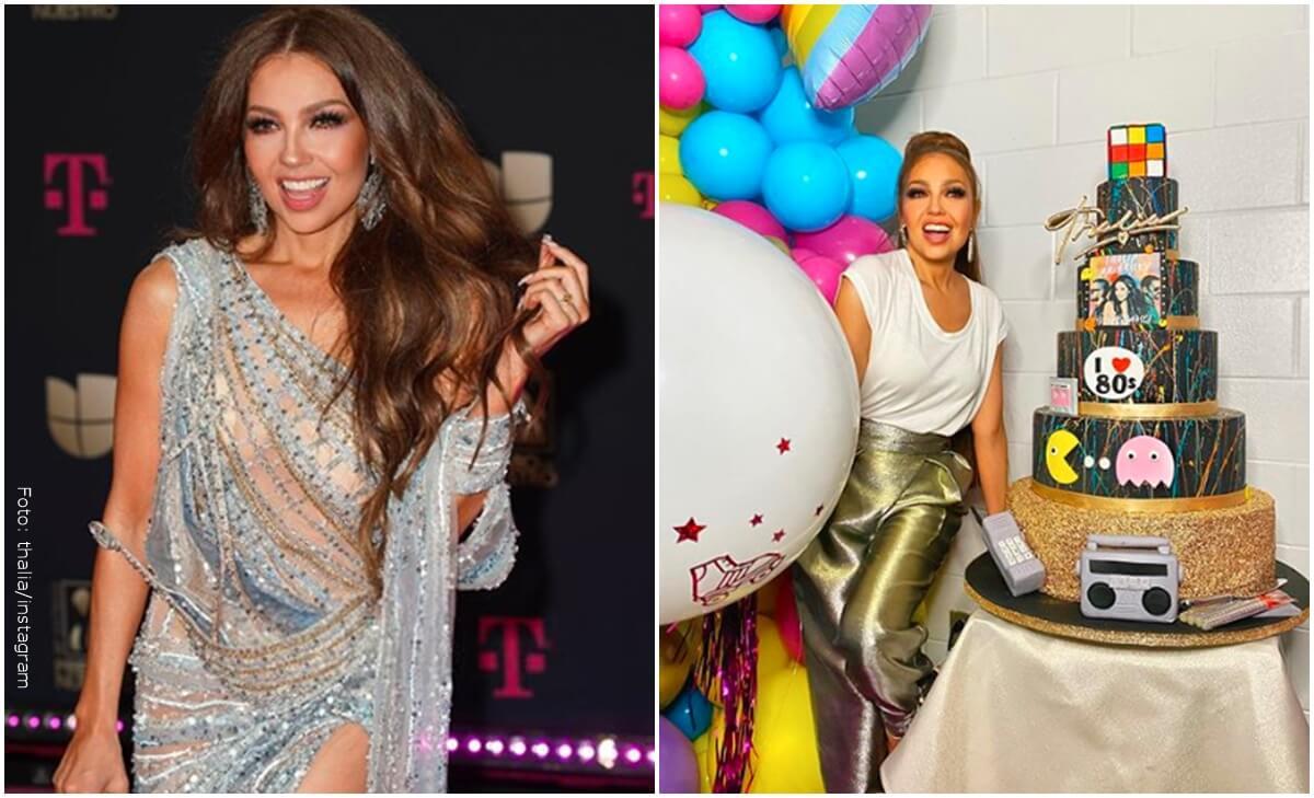 Thalía se quemó el brazo con la vela de un pastel ¿Qué pasó?
