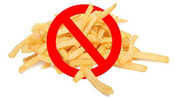 Imagen de prohibido papas fritas