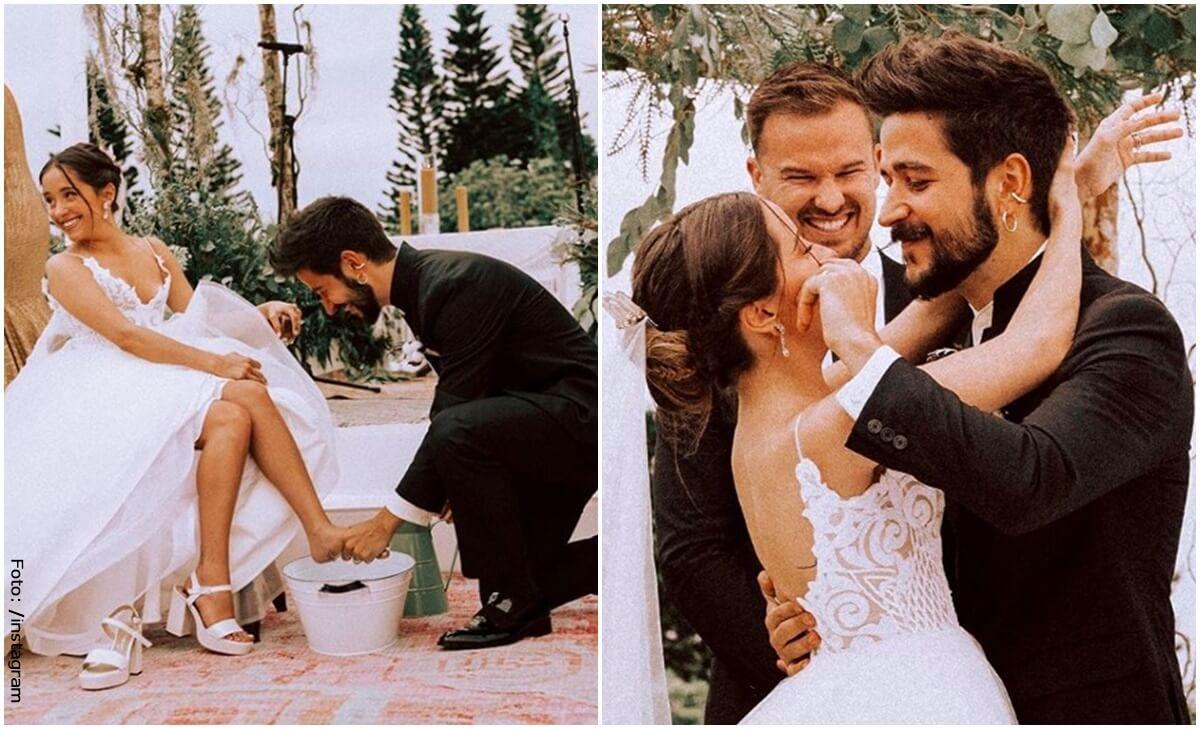 Camilo y Evaluna revelan imágenes desconocidas de su matrimonio