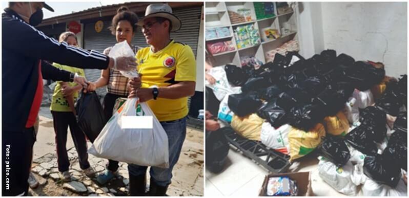 Donaciones de mercados y elementos de primera necesidad realizadas por Karol G.