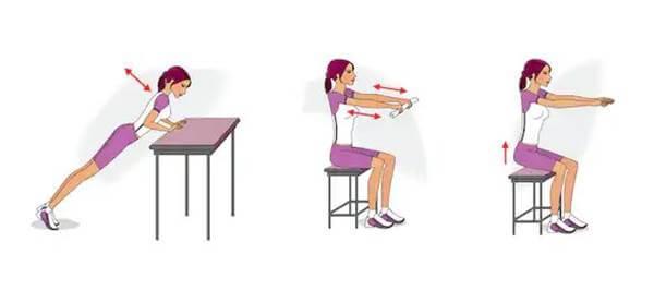 Ilustración de chica haciendo ejercicio para los brazos