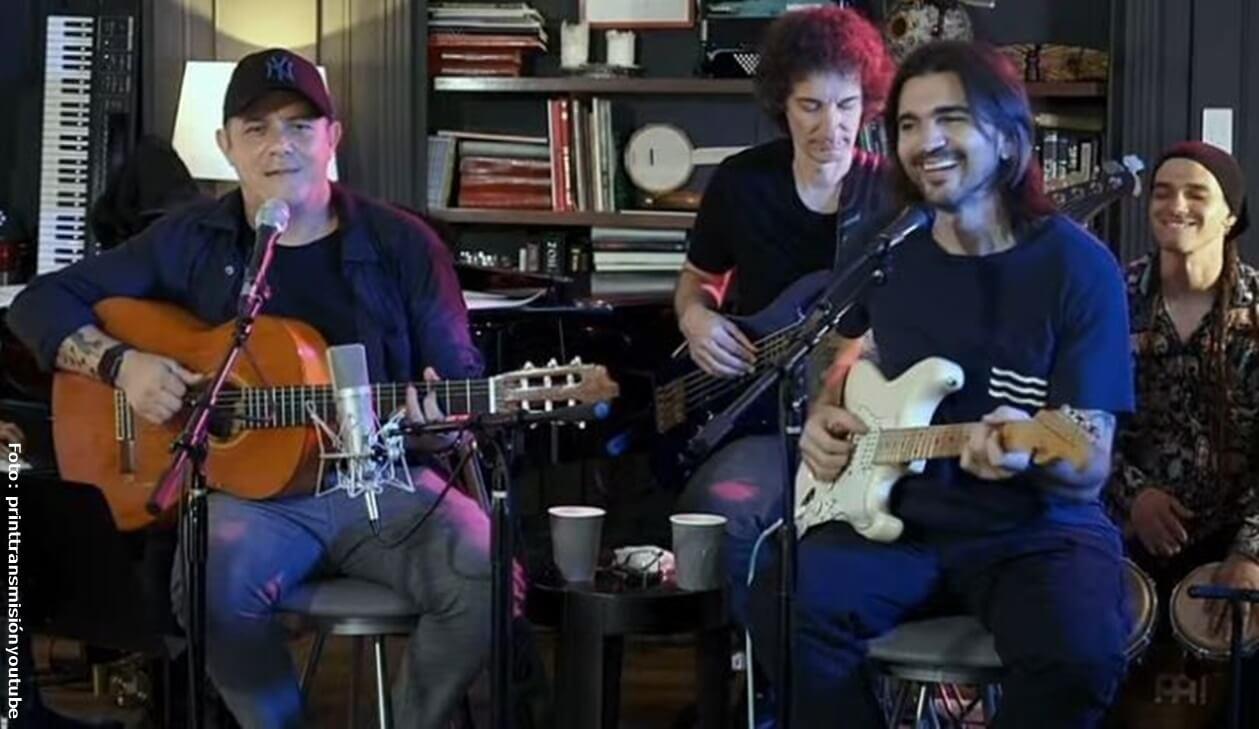 Concierto de Alejandro Sanz y Juanes en Youtube, ¡un éxito!