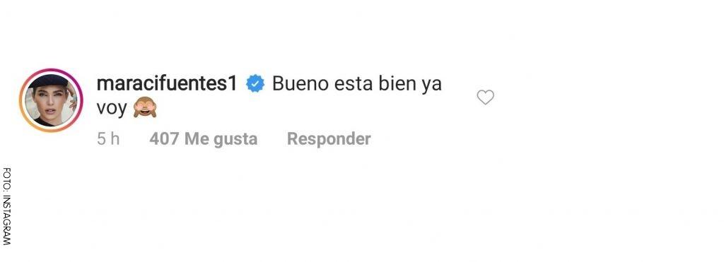 Comentario de Mara a Maluma en redes