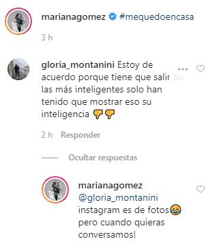 Comentario ofendiendo la inteligencia de Mariana Gómez