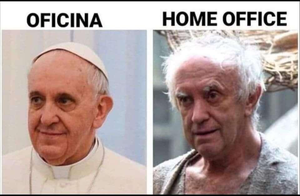 Memes sobre coronavirus: Home office