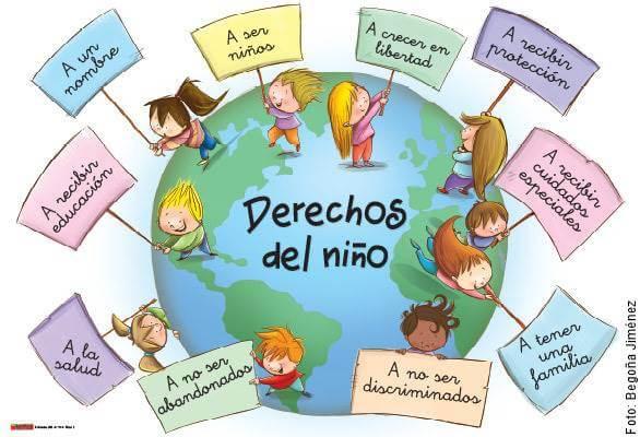 Imagen de varios niños exigiendo sus derechos en el Día del Niño en Colombia
