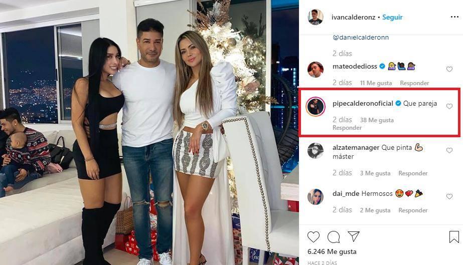 Iván Calderon al lado de Hanna en diciembre