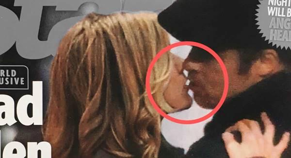 Foto de un beso reciente entre Jennifer Aniston y Brad Pitt regresan