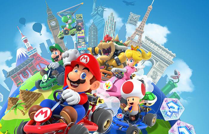 Ilustración de Mario Kart Tour