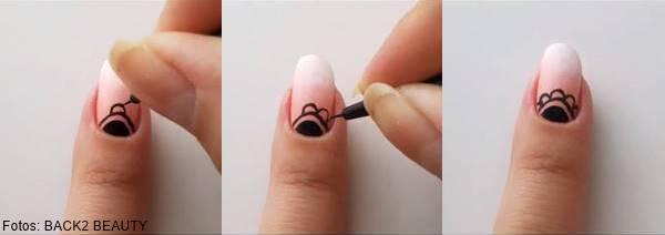 Foto de decoración de uñas con mandalas