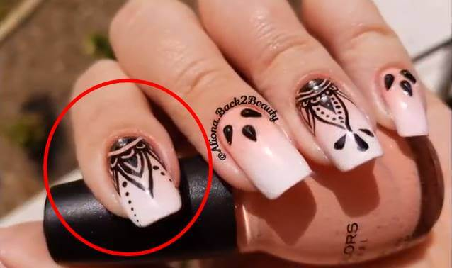 Foto de decoración de Mandalas en uñas