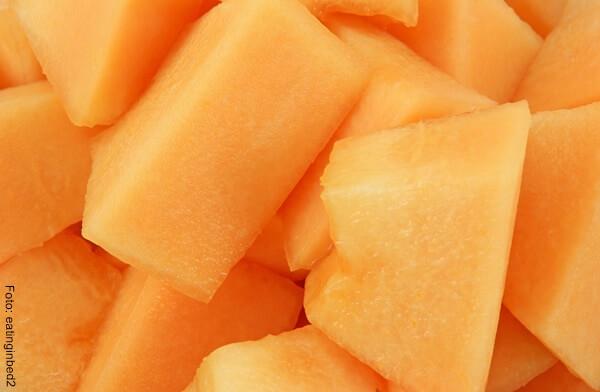Foto de algunos trozos de melón