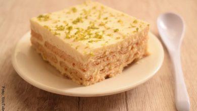 Receta de tarta o postre de limón con galletas