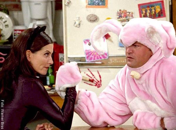 Foto de la serie Friends con Mónica y Chandler