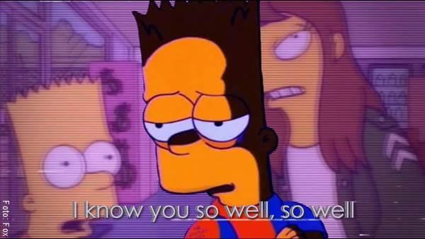 Fotograma de Los Simpson con Bart y su primer amor