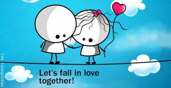 Ilustración de una pareja enamorándose