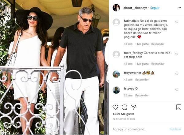 Foto de Amal y George Clooney