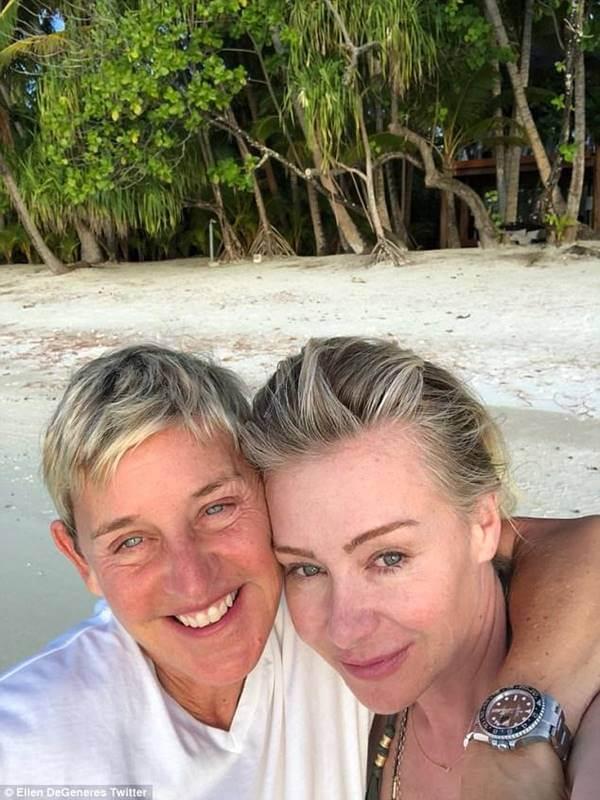 Foto de Ellen Lee DeGeneres y Portia Lee James