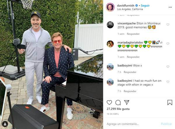 Foto de Elton John y David James Furnish